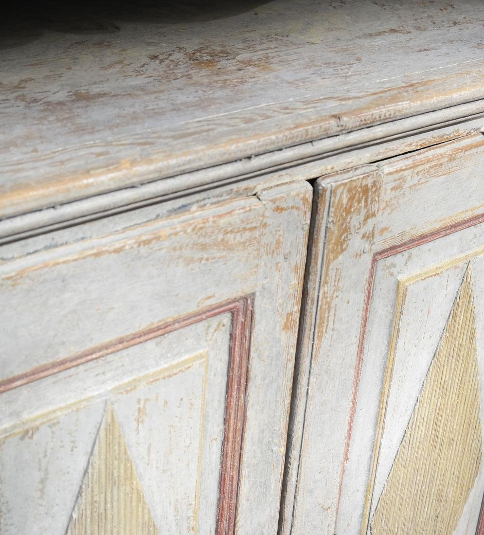 Two-Part Distressed Hutch - 5