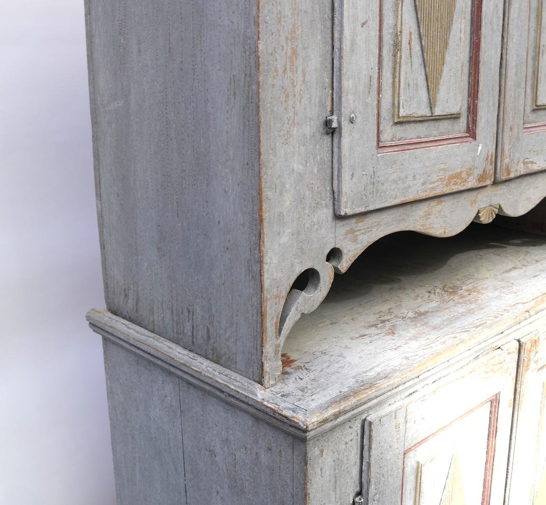 Two-Part Distressed Hutch - 6