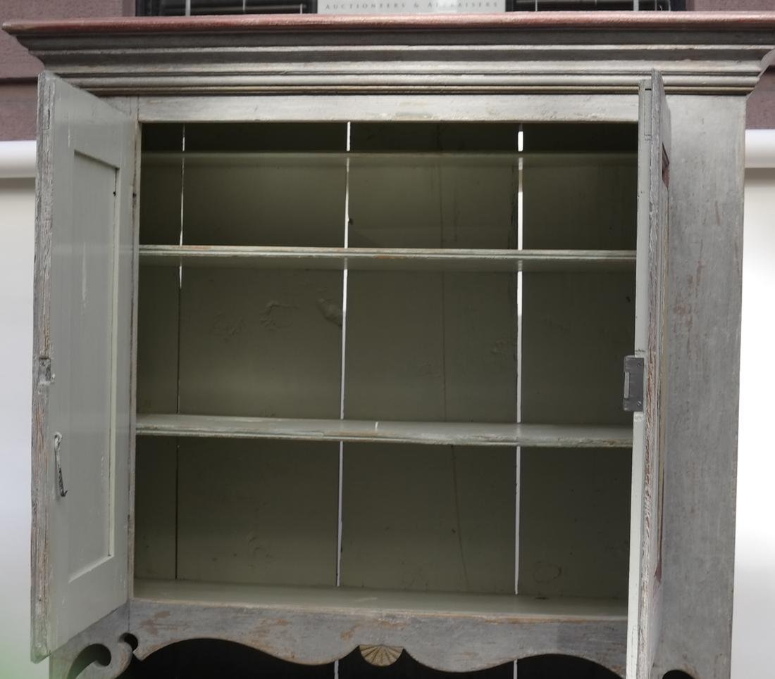 Two-Part Distressed Hutch - 7