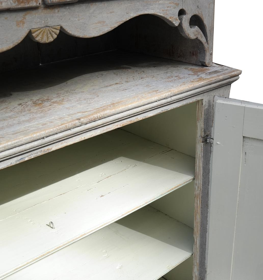Two-Part Distressed Hutch - 8