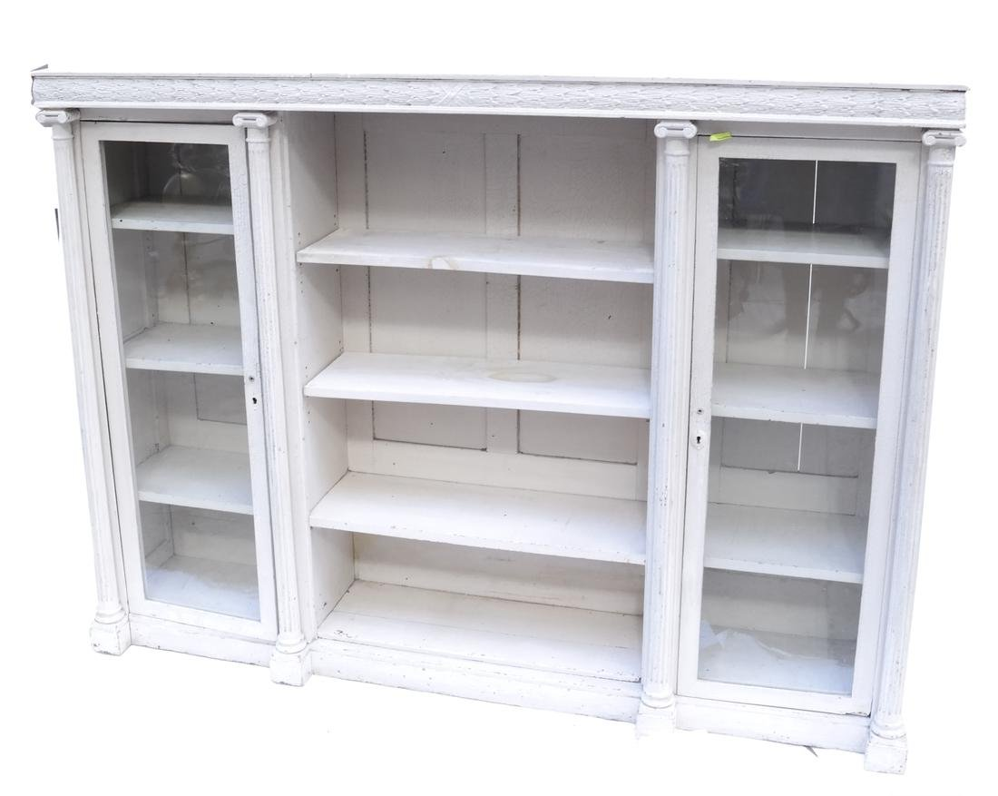 Distressed Finished Bookcase