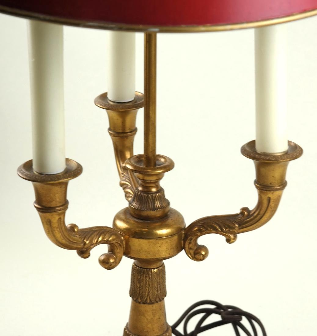 Gilt Bronze Three-Light Bouillotte Lamp - 3