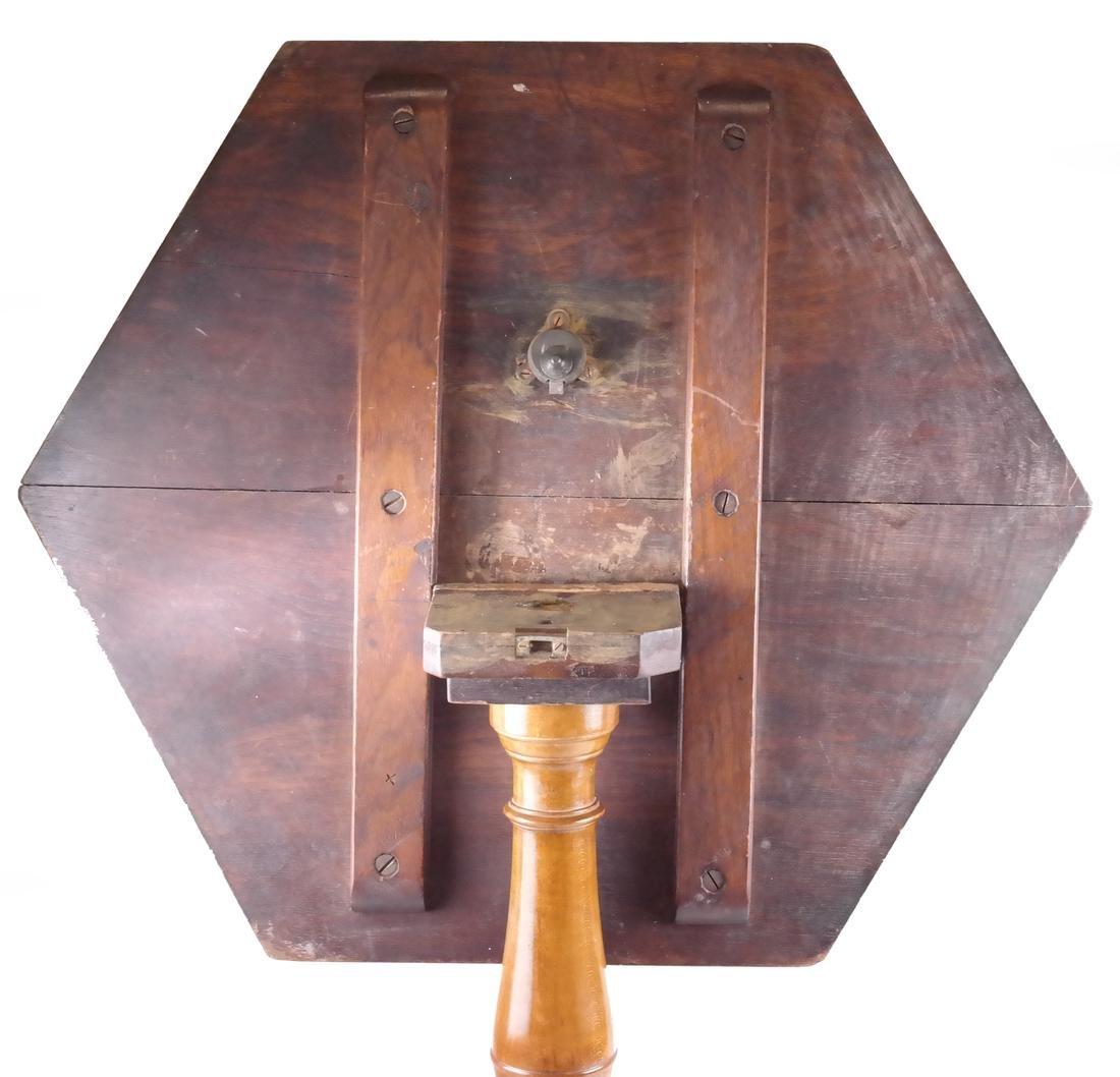Inlaid Hexagonal Tilt-Top Table - 4