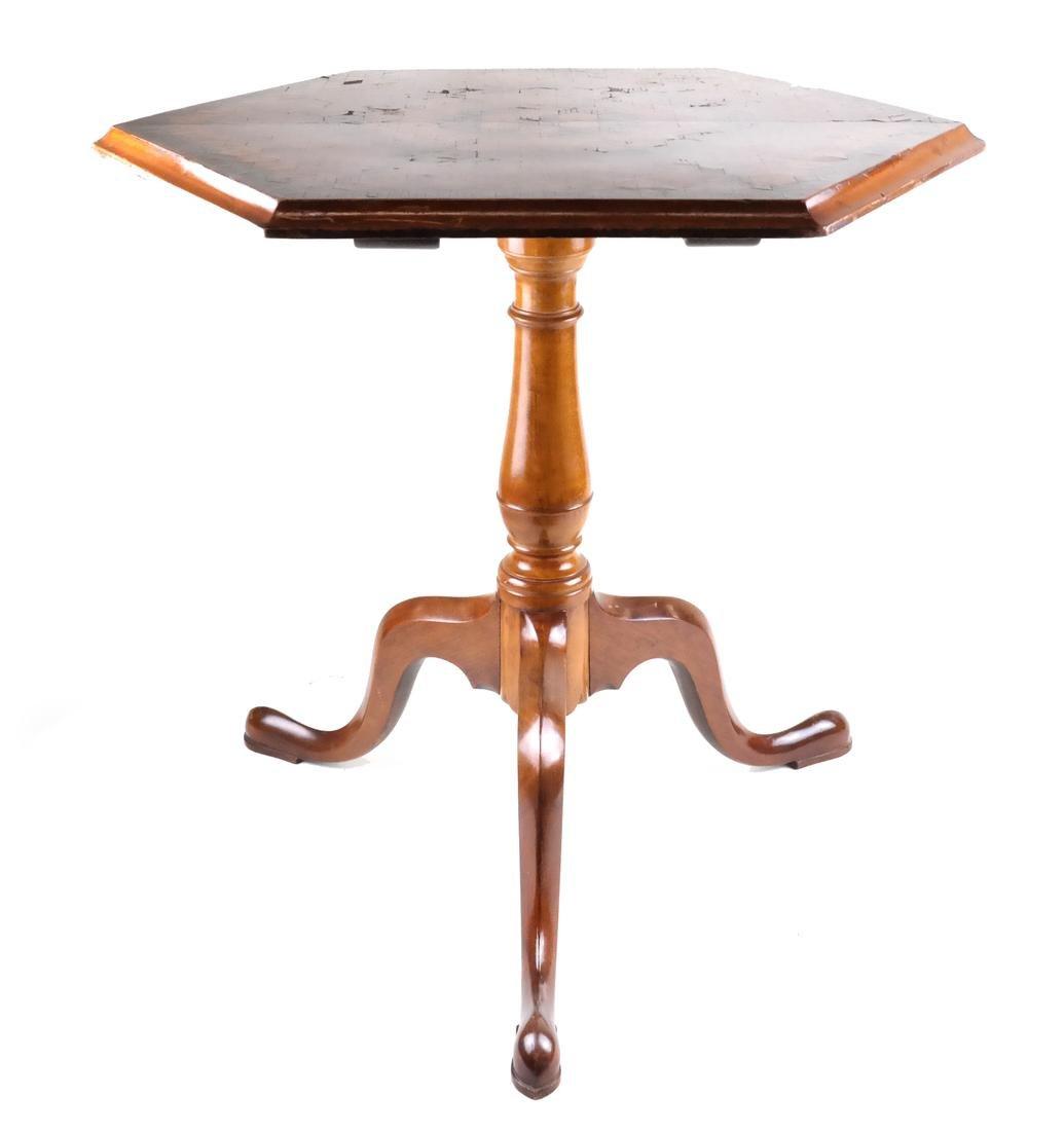Inlaid Hexagonal Tilt-Top Table - 5