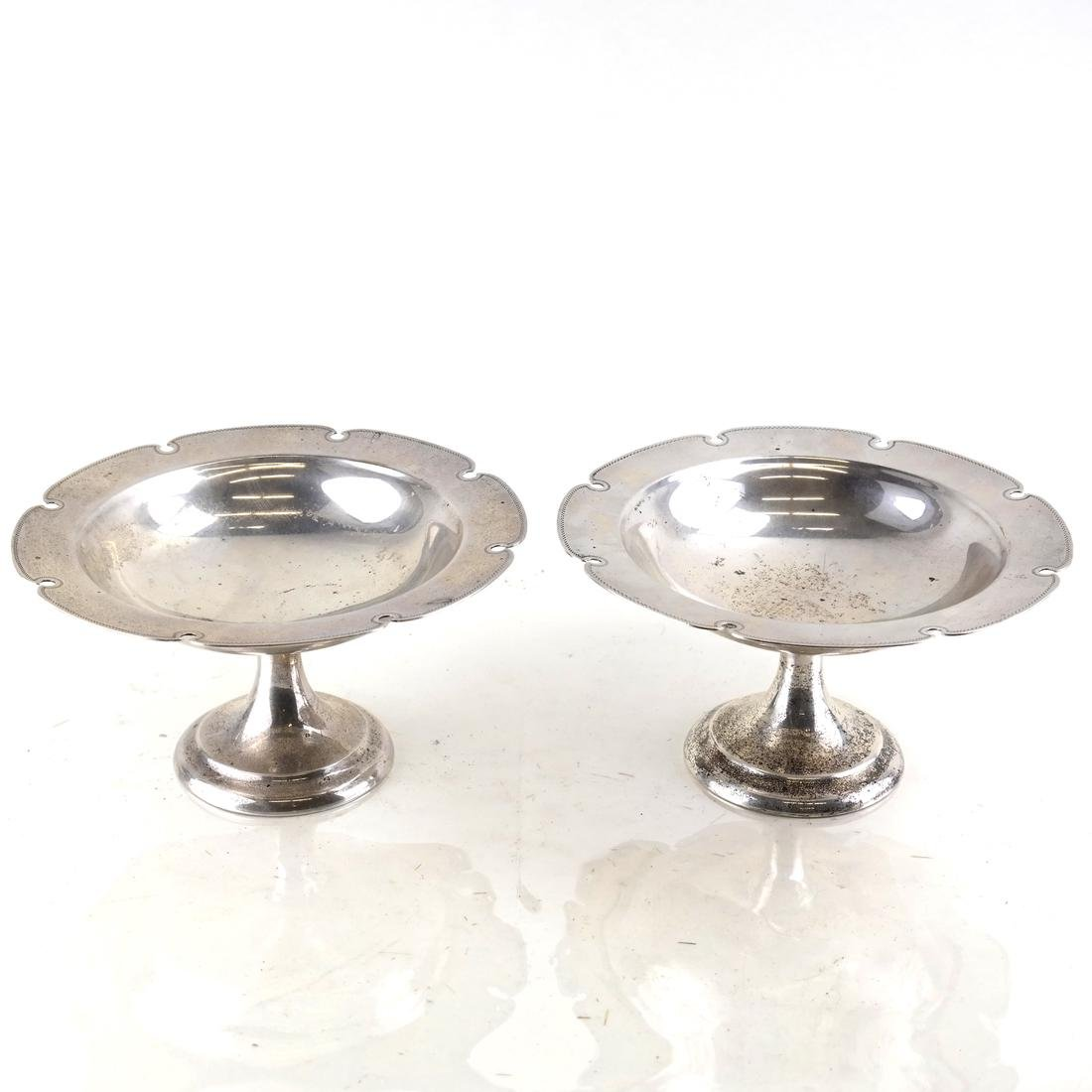 Pair American Sterling Silver Compotes