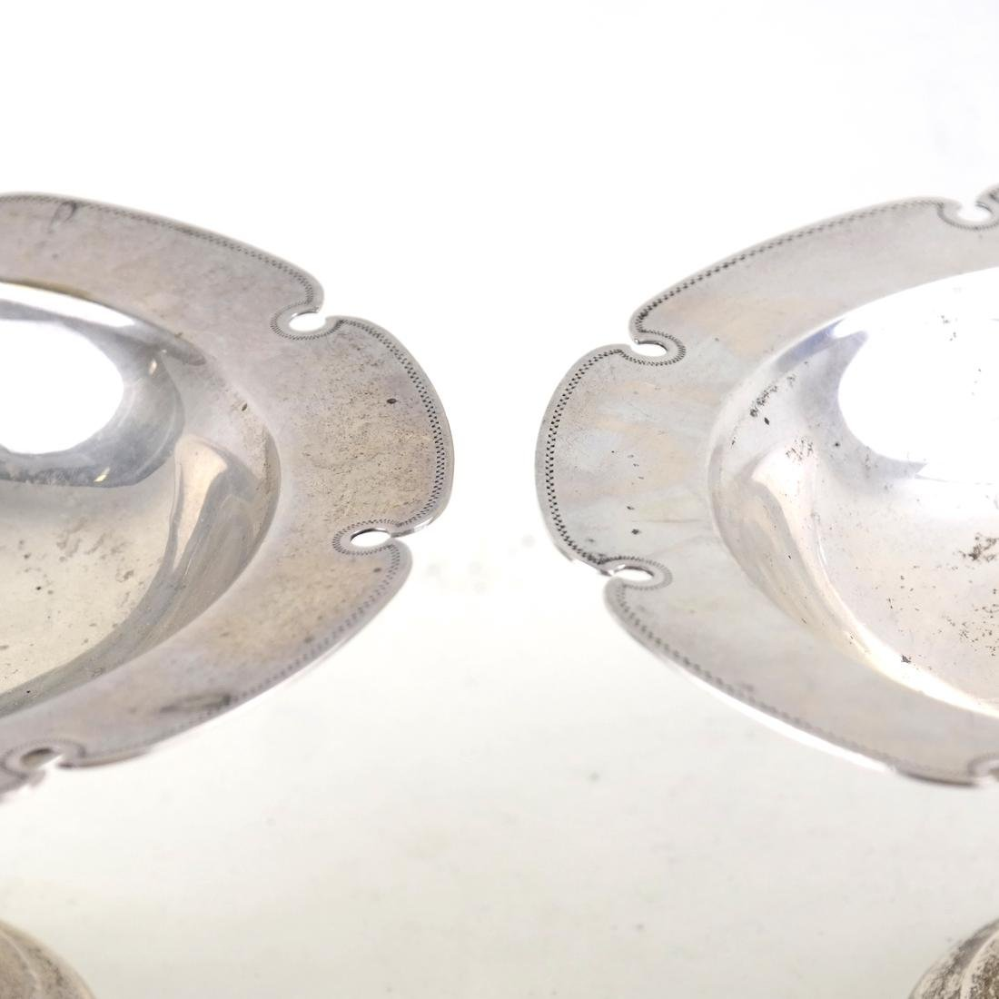 Pair American Sterling Silver Compotes - 2