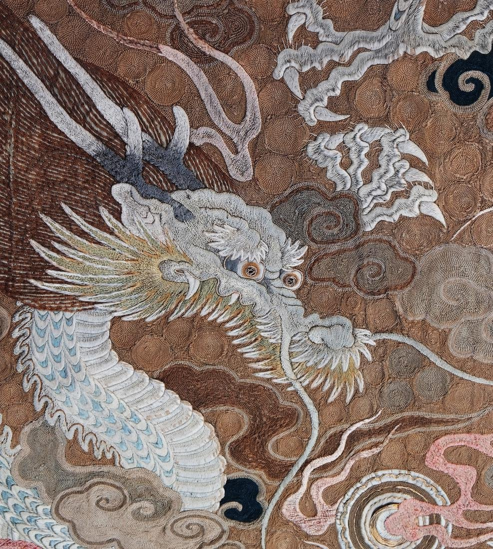 Chinese Embroidered Silk Wall Hanging - 10