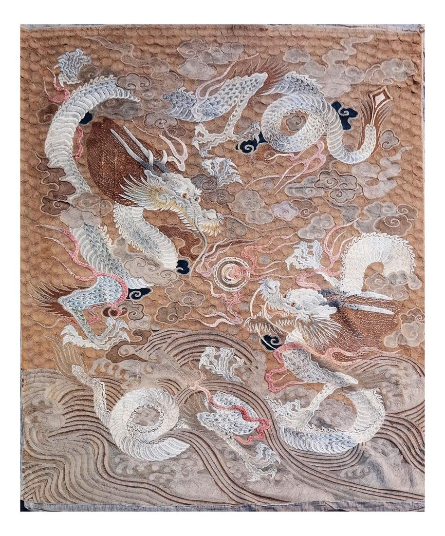 Chinese Embroidered Silk Wall Hanging