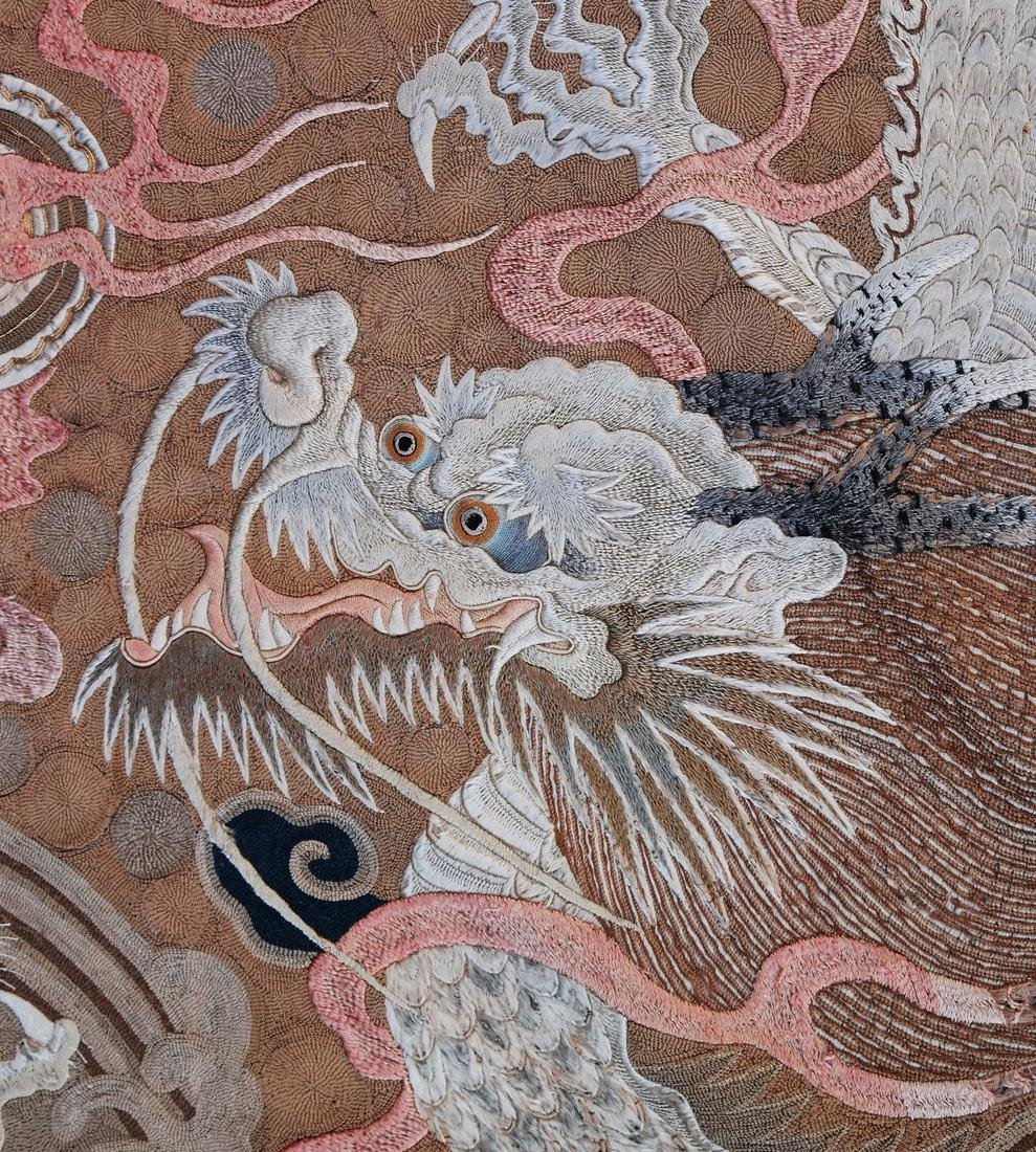 Chinese Embroidered Silk Wall Hanging - 7