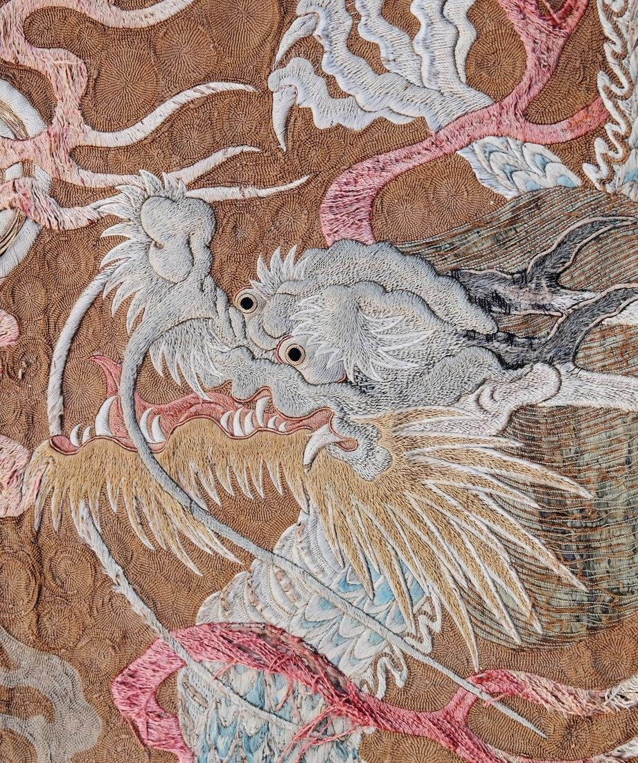 Chinese Embroidered Silk Wall Hanging - 5