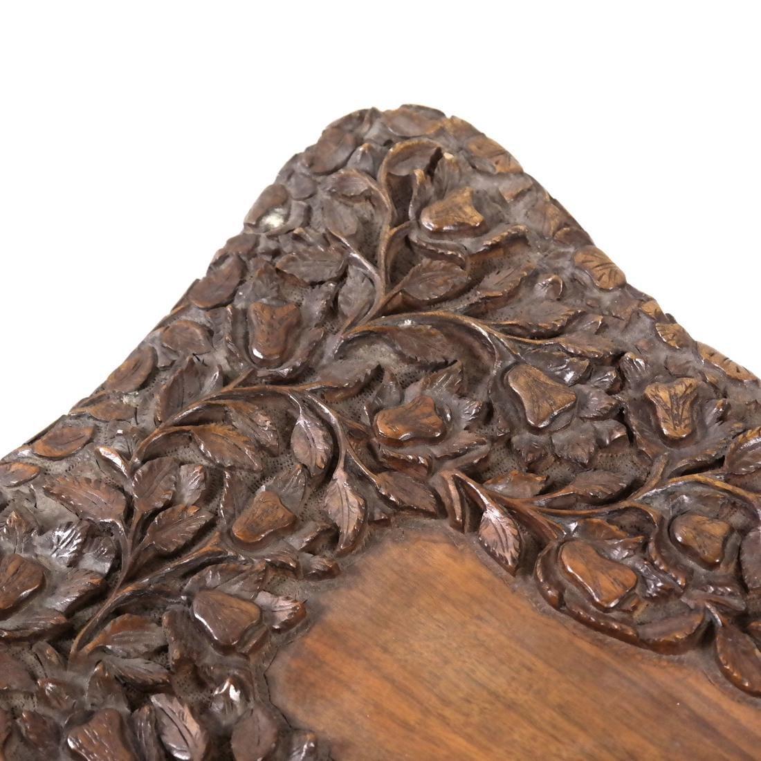 Pair of Chinese Hardwood Stools - 5