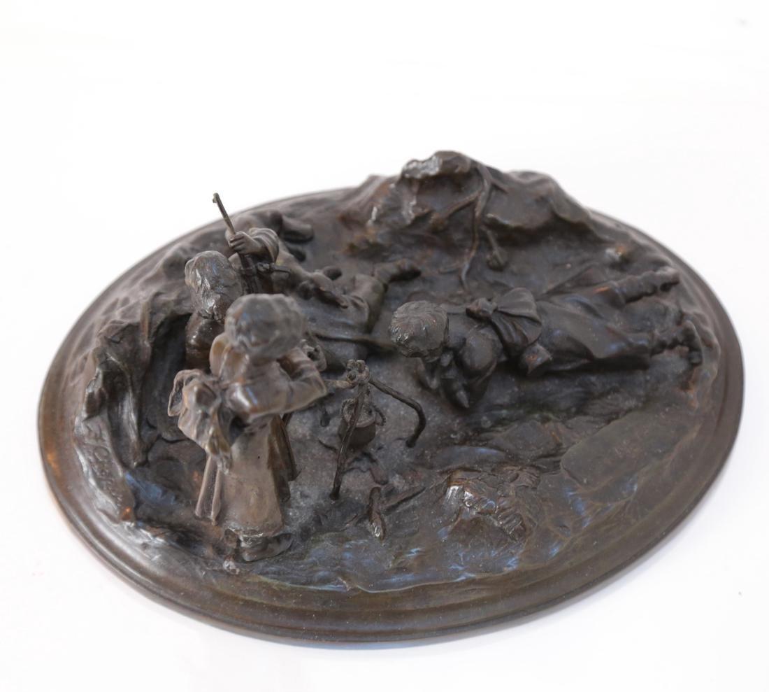 Russian Bronze Relief Sculpture