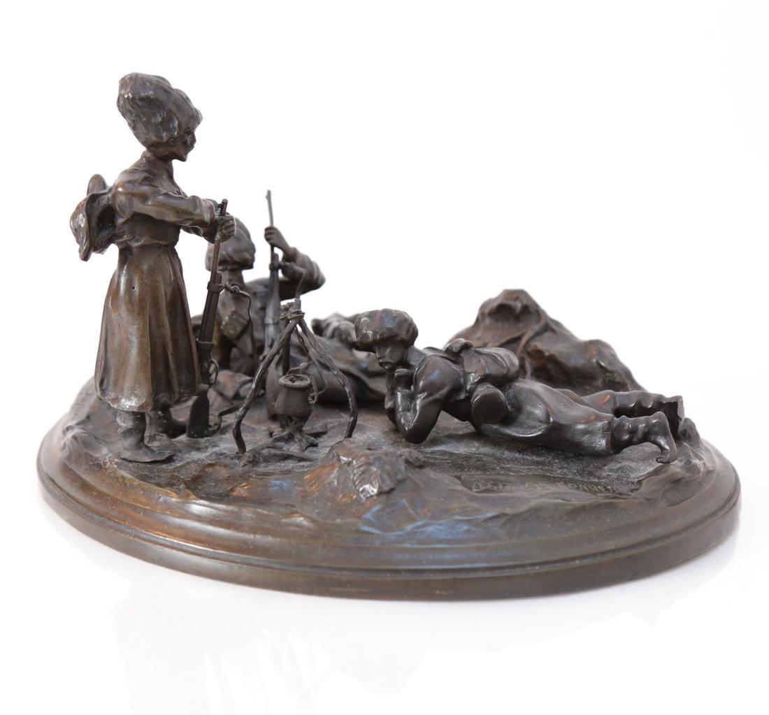Russian Bronze Relief Sculpture - 4