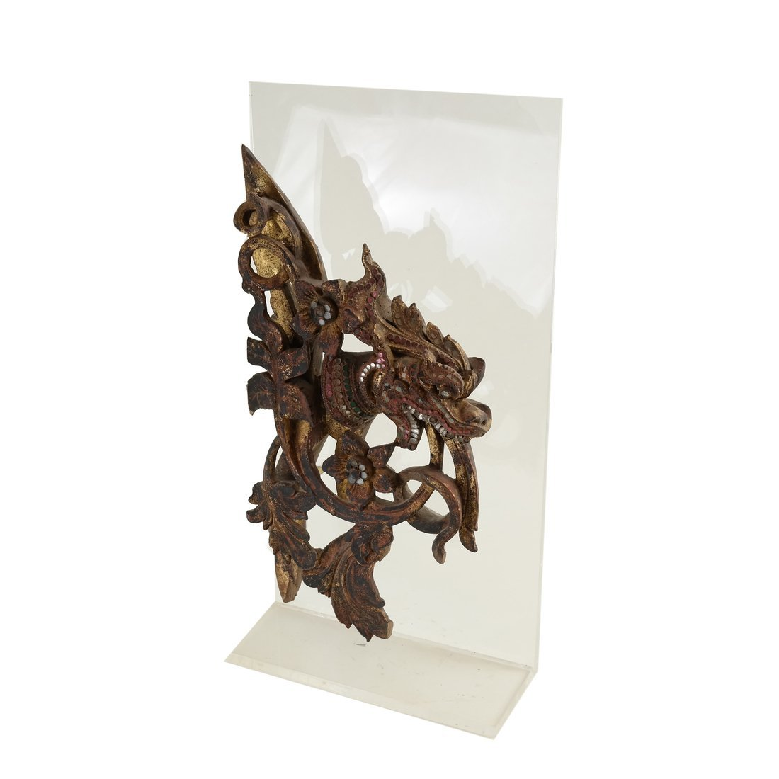 Southeast Asian Carved Wood Fragment