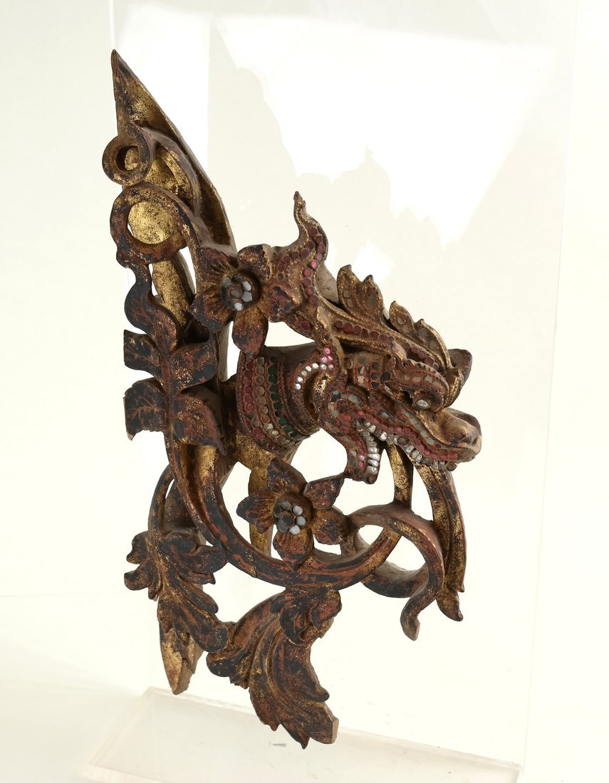 Southeast Asian Carved Wood Fragment - 2