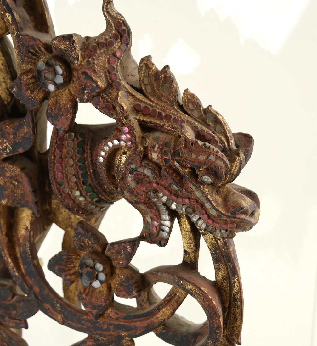 Southeast Asian Carved Wood Fragment - 3