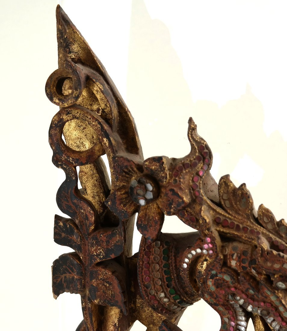 Southeast Asian Carved Wood Fragment - 4