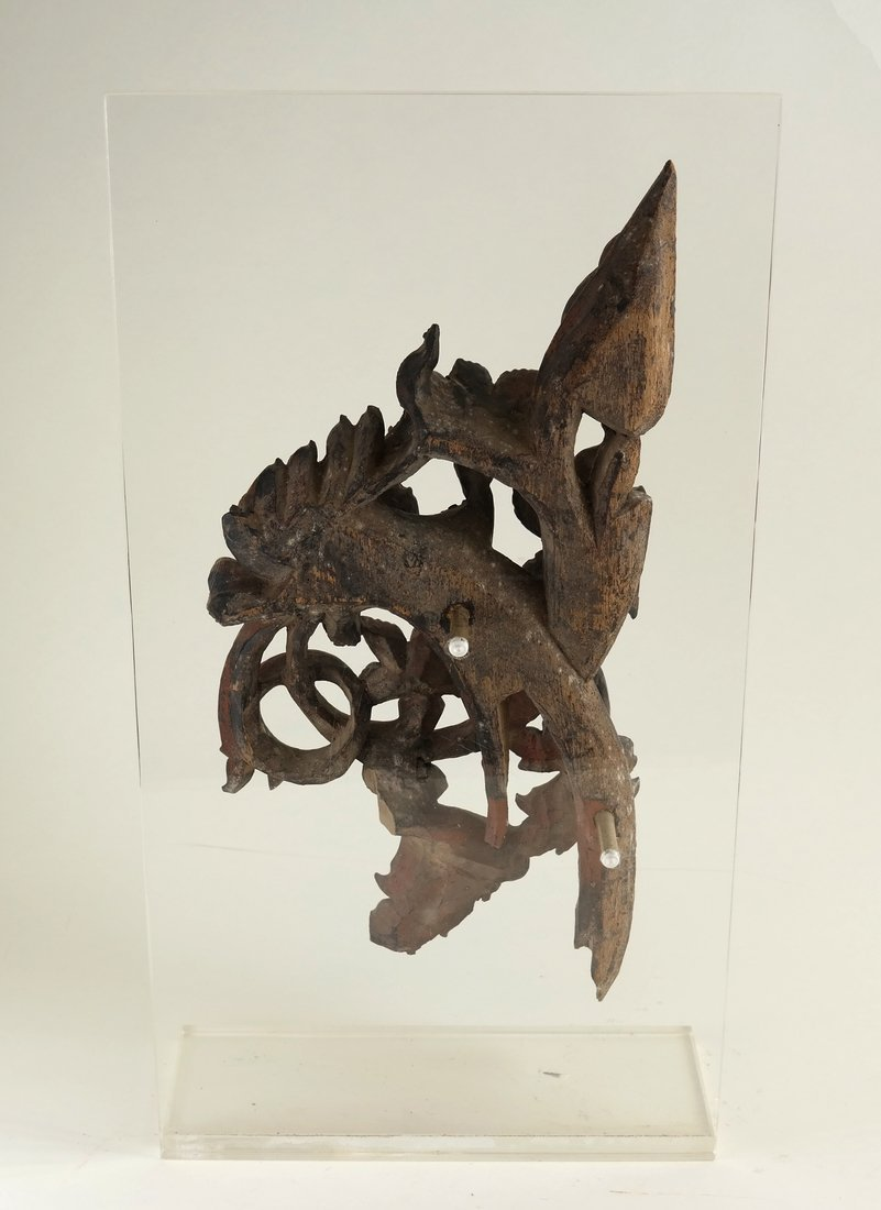 Southeast Asian Carved Wood Fragment - 6