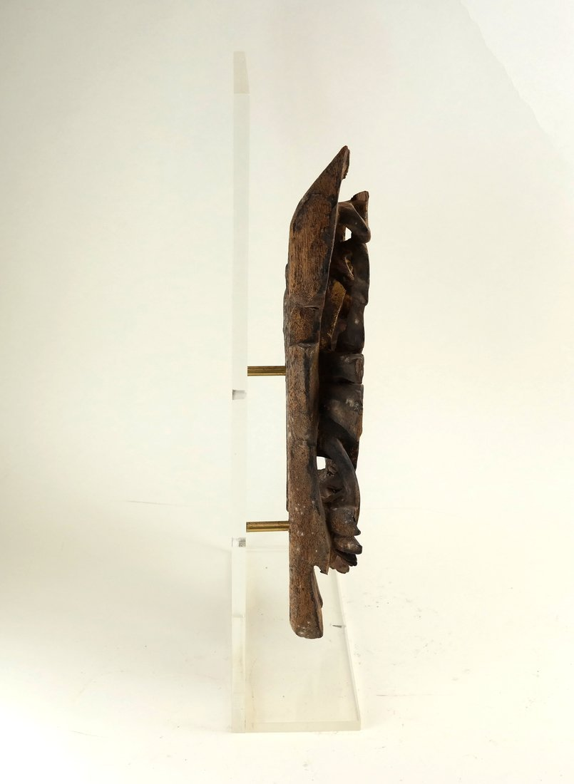 Southeast Asian Carved Wood Fragment - 7