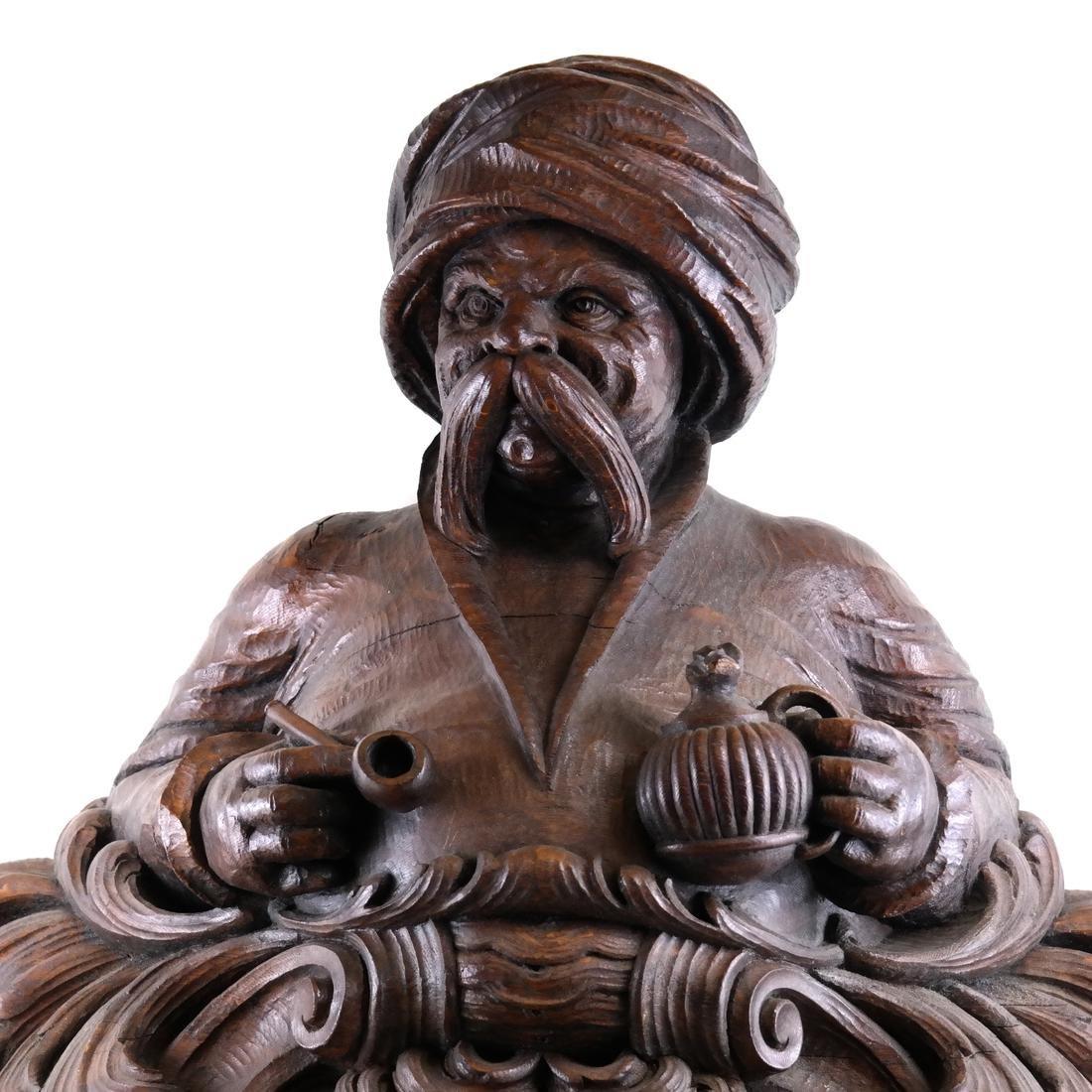 19th Century Wood Tobacconist Sculpture - 4