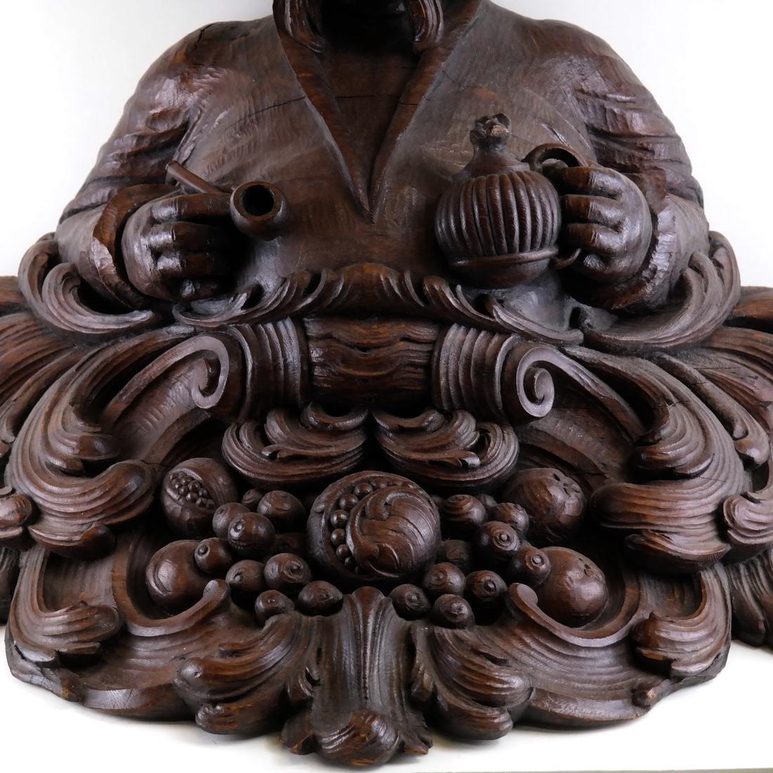 19th Century Wood Tobacconist Sculpture - 5