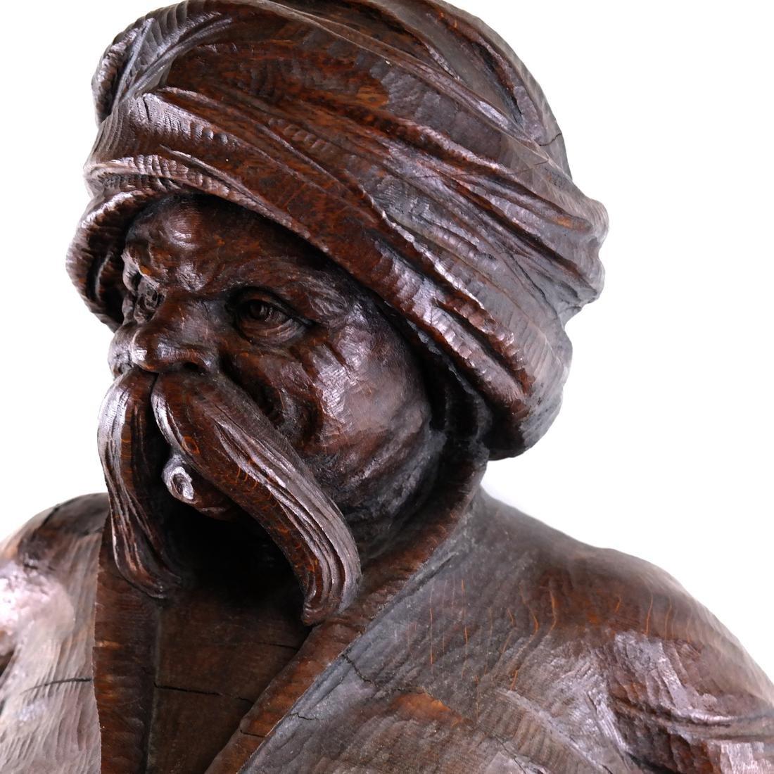 19th Century Wood Tobacconist Sculpture - 9