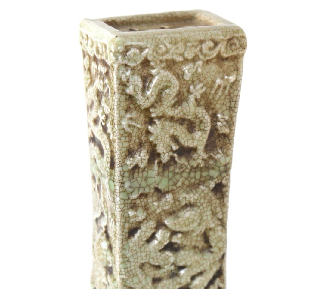 Celadon Warmer, Lizard Relief - 3
