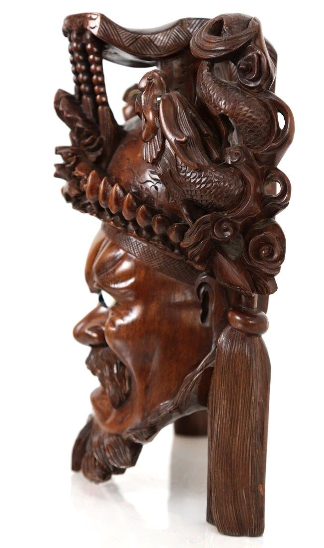 Asian Carved Wood Dragon - Deity Group - 7