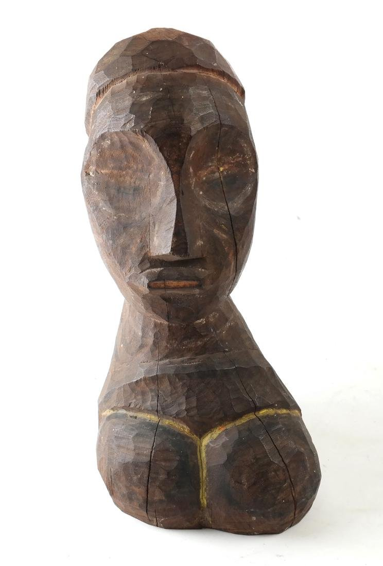 Oceanic Carved Hardwood Bust