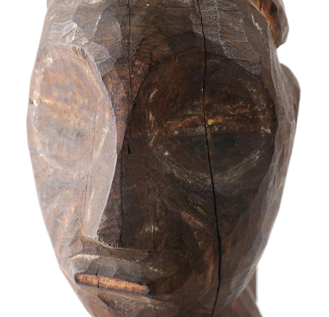 Oceanic Carved Hardwood Bust - 4