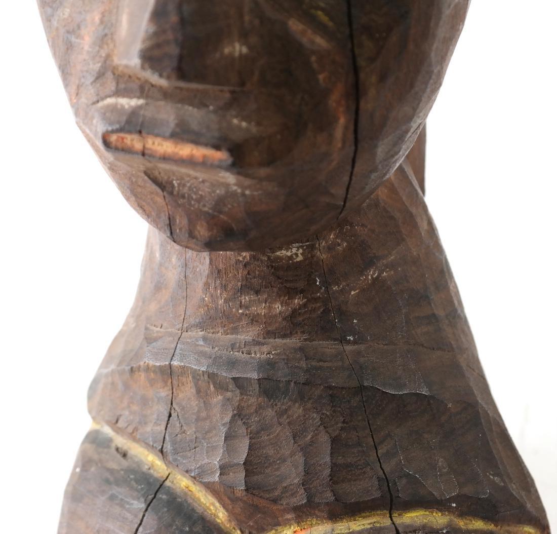 Oceanic Carved Hardwood Bust - 5