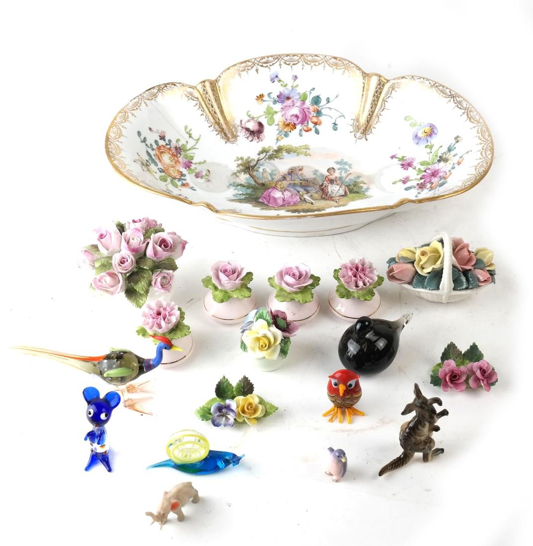 Group of Misc. Porcelain and Glass Items