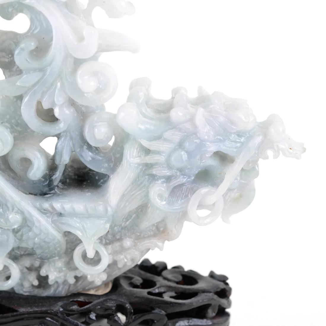 Chinese Carved Jade Dragon Ship - 4