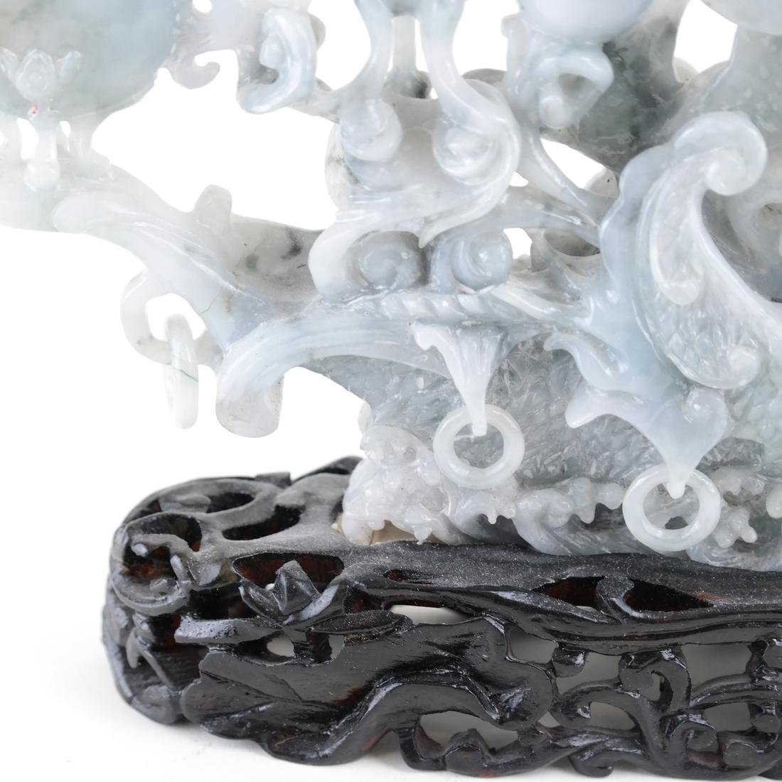 Chinese Carved Jade Dragon Ship - 5
