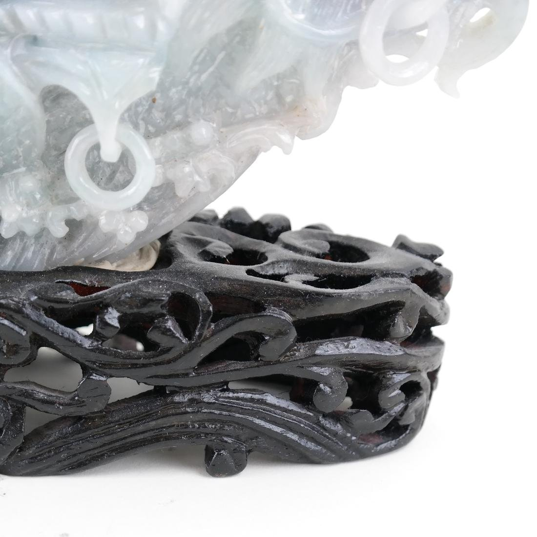 Chinese Carved Jade Dragon Ship - 6