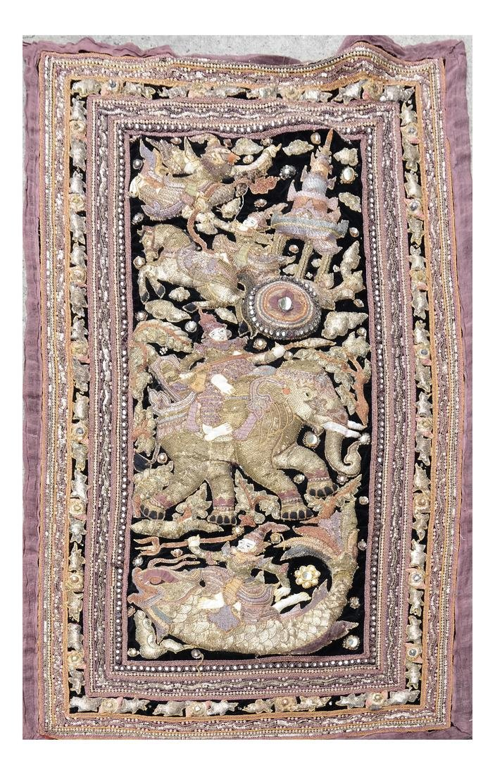 Indian Antique Ceremonial Embroidery