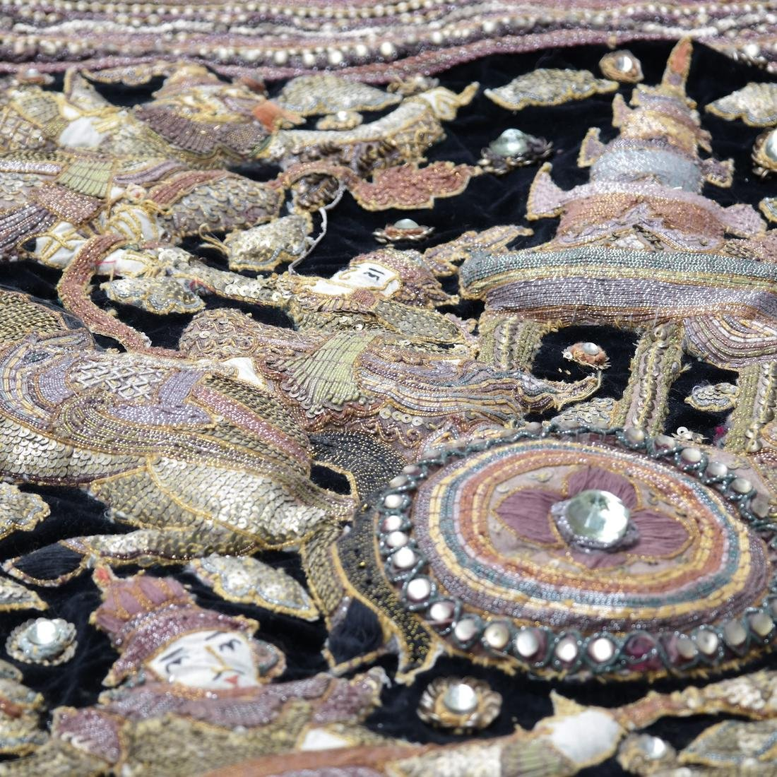 Indian Antique Ceremonial Embroidery - 4