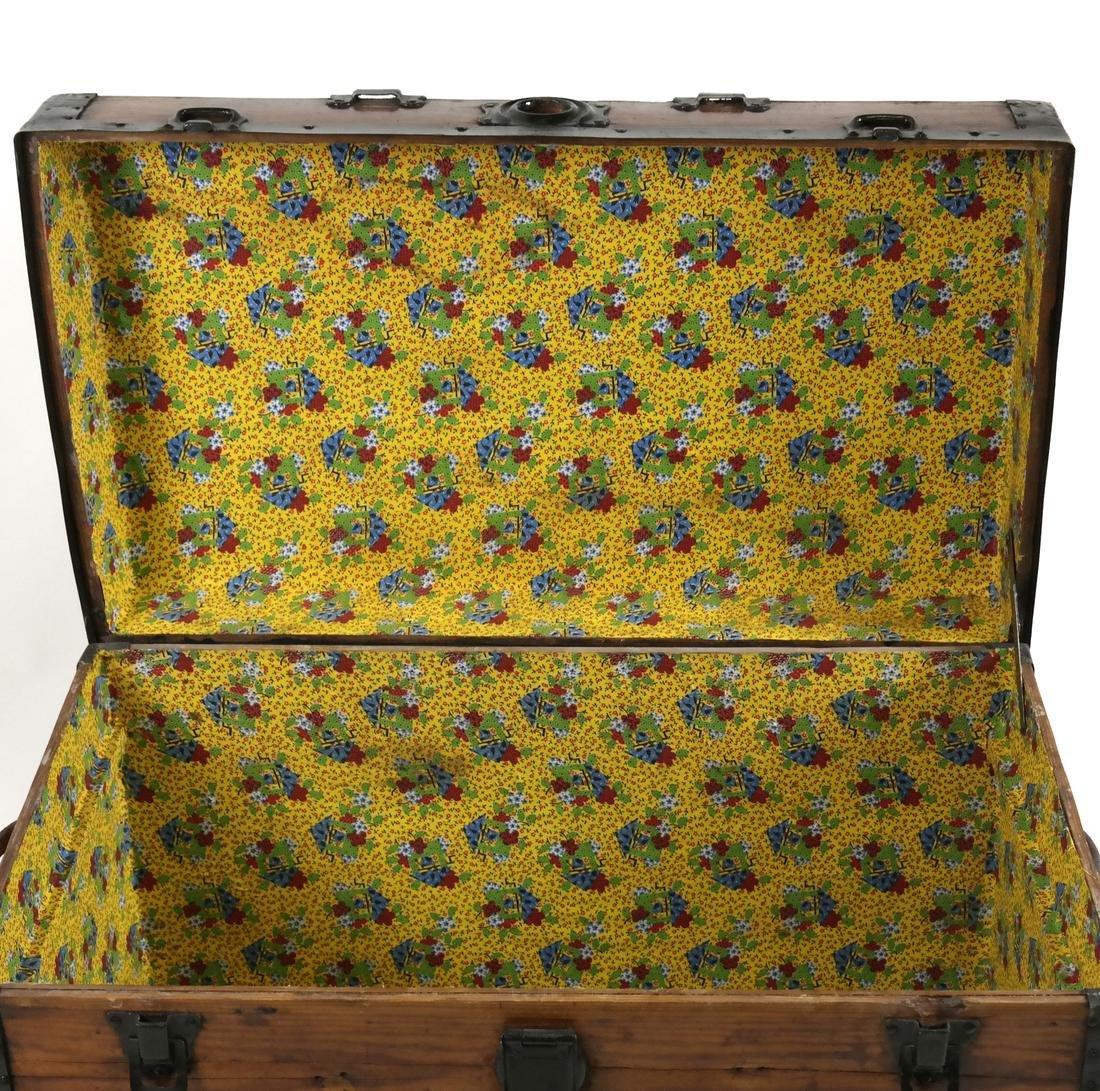 Antique Wooden Trunk - 5