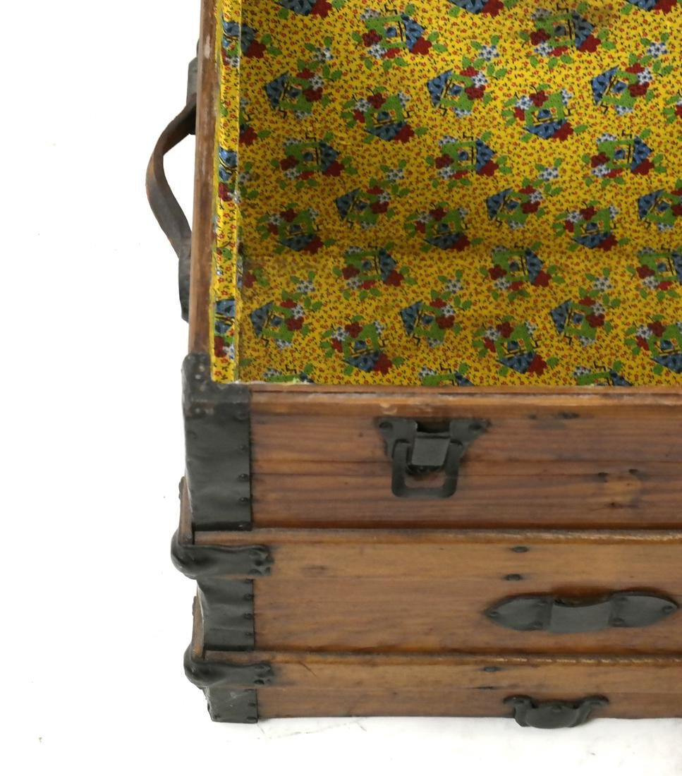 Antique Wooden Trunk - 6