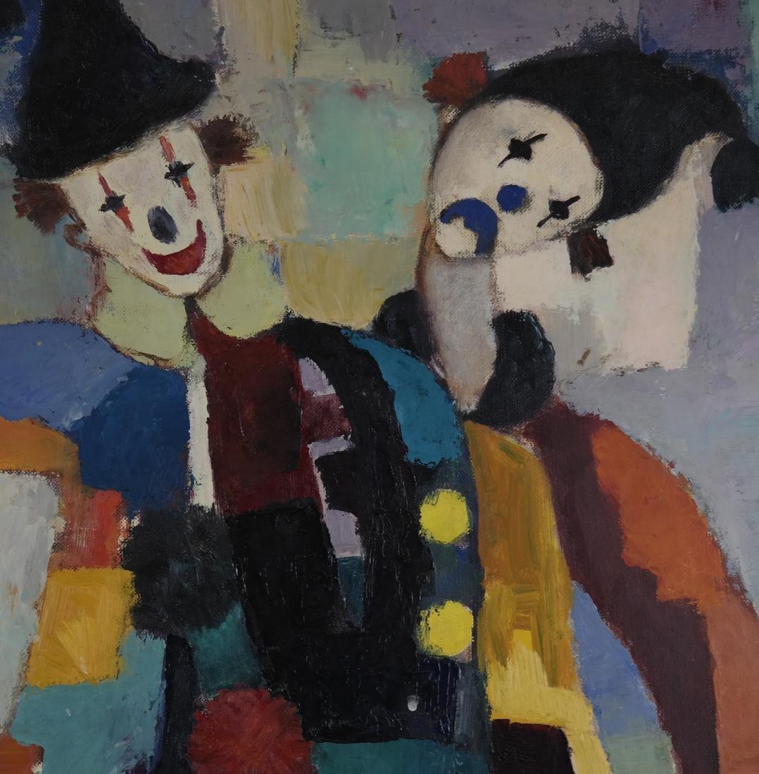 Modernist Clowns, Oil on Board - 4
