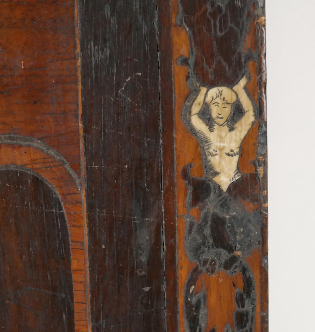 Antique Inlaid Wood Panel - 2