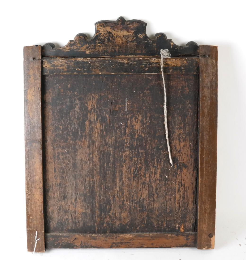 Antique Inlaid Wood Panel - 3