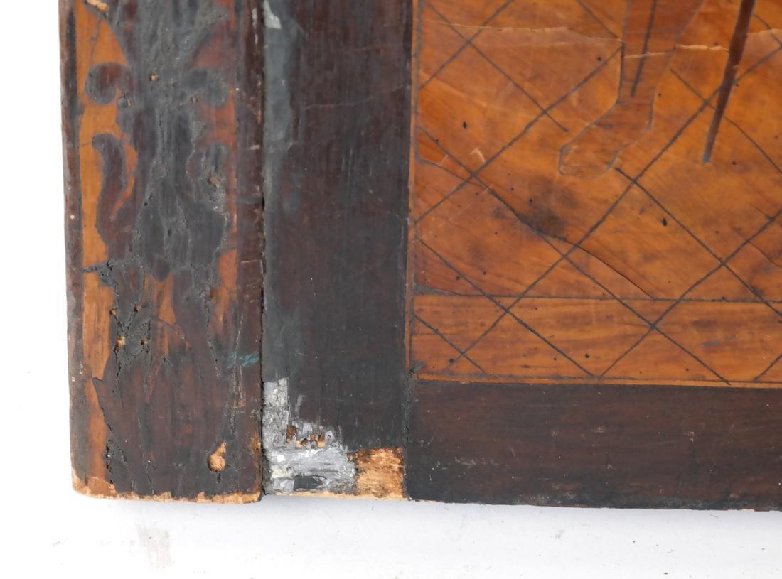 Antique Inlaid Wood Panel - 4