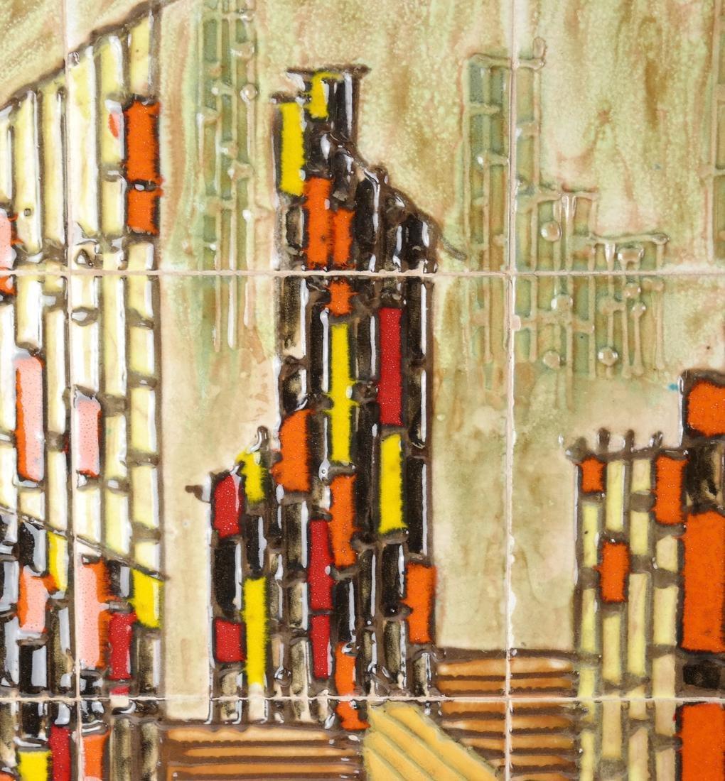 Framed City Scene of Tiles - 3