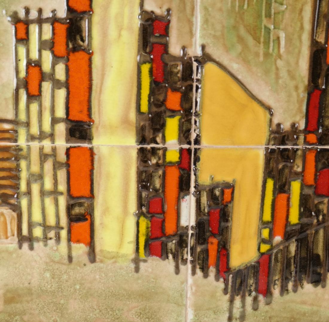 Framed City Scene of Tiles - 4