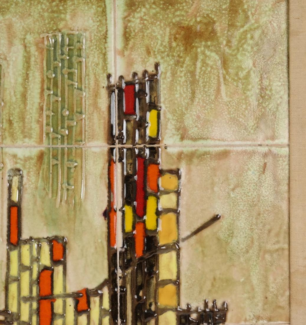Framed City Scene of Tiles - 5