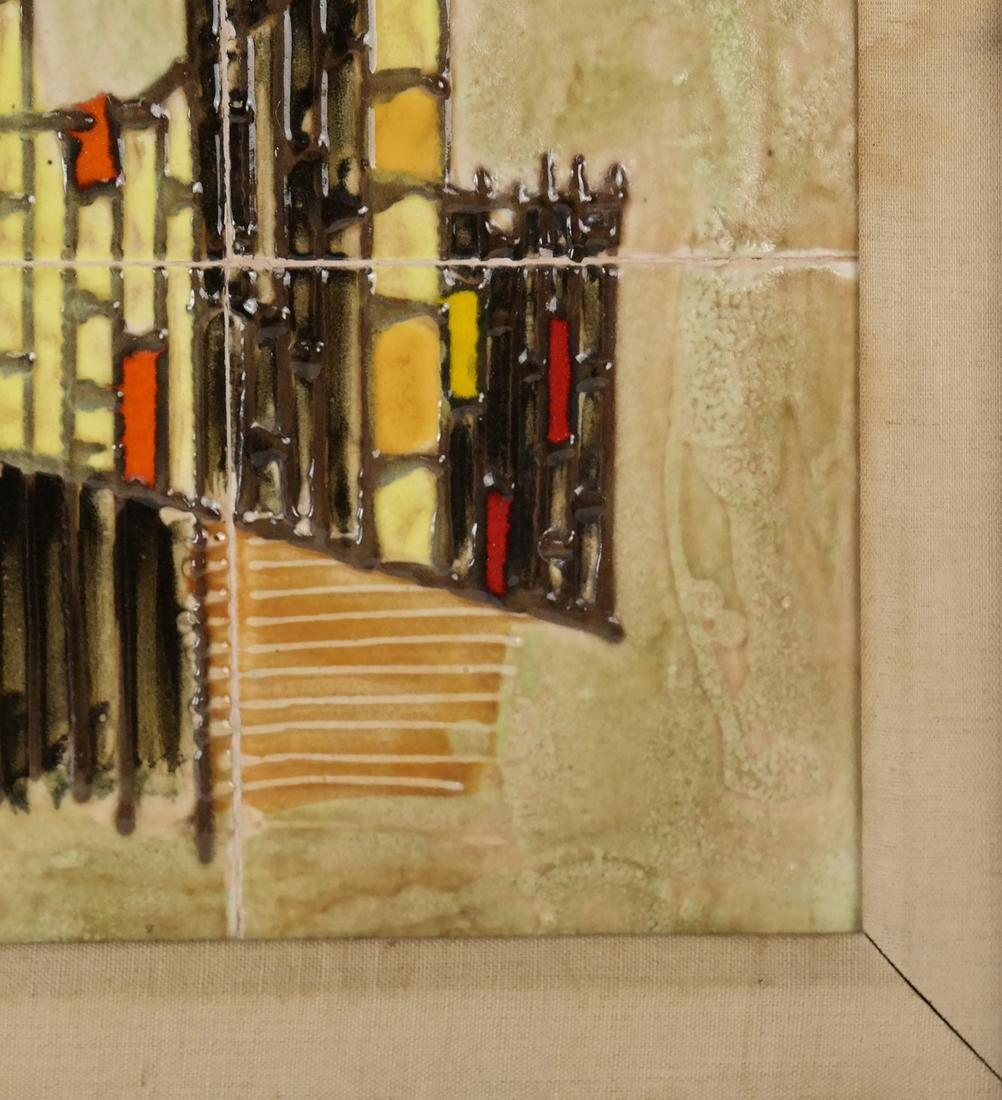Framed City Scene of Tiles - 6