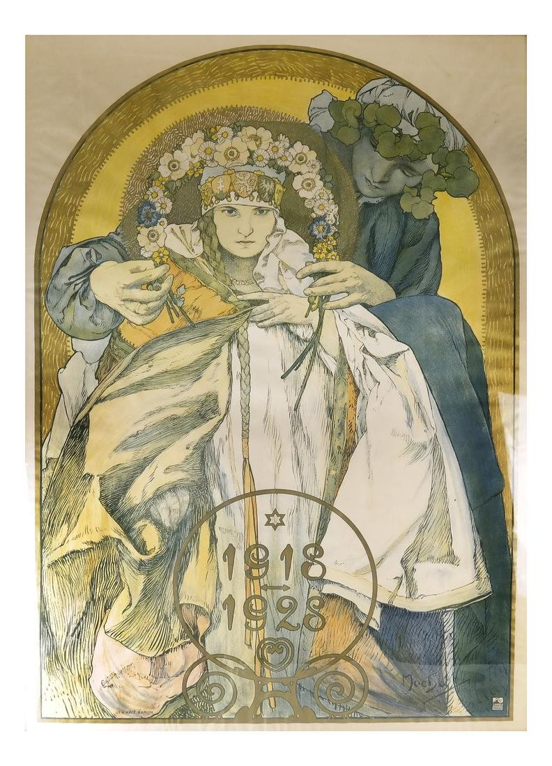 Alphonse Mucha, Czech Republic - Litho