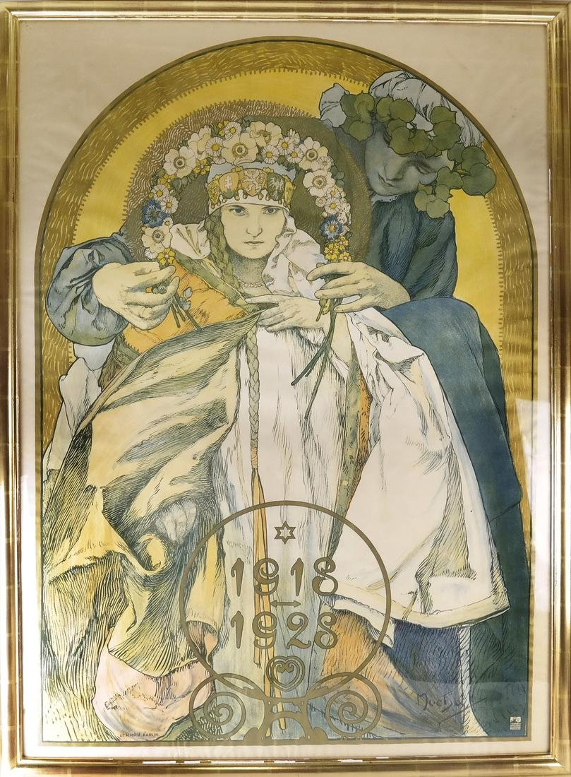 Alphonse Mucha, Czech Republic - Litho - 2