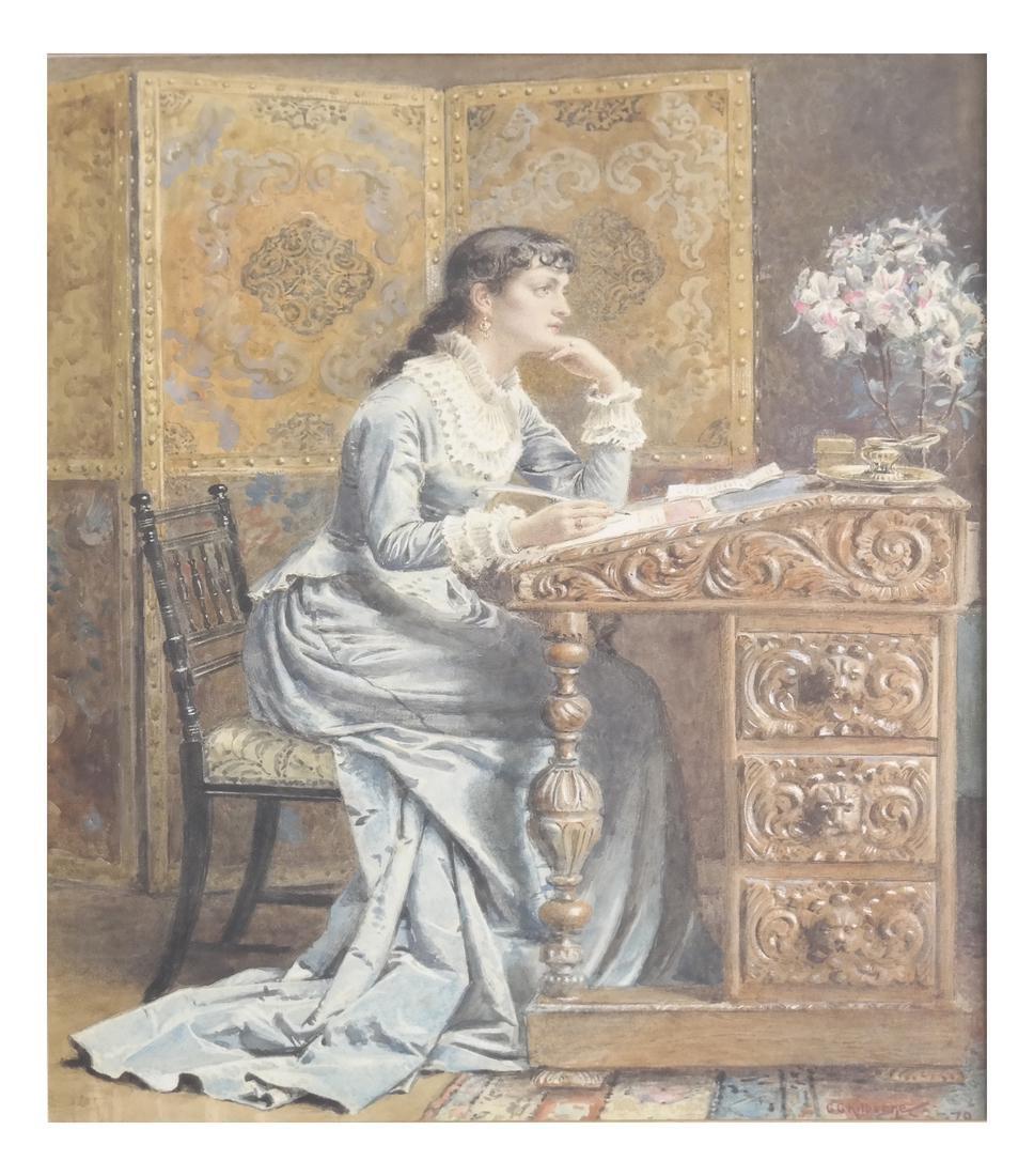 G. Kilburne, Writing The Letter